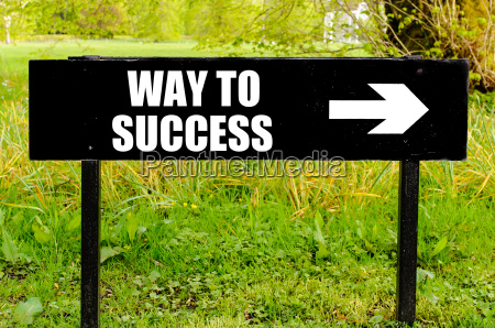 way to success written on directional