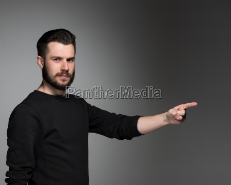 the man pointing a great idea