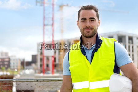 portrait of an attractive worker on