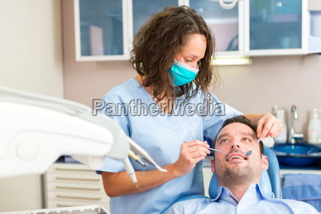 young attractive man being cured by