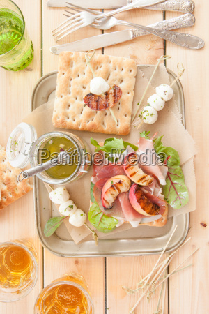 sandwich with smoked ham and grilled