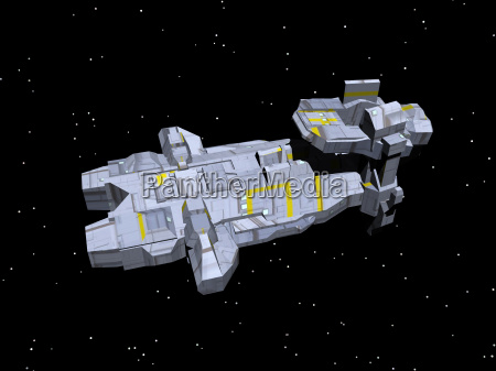 spaceship in space