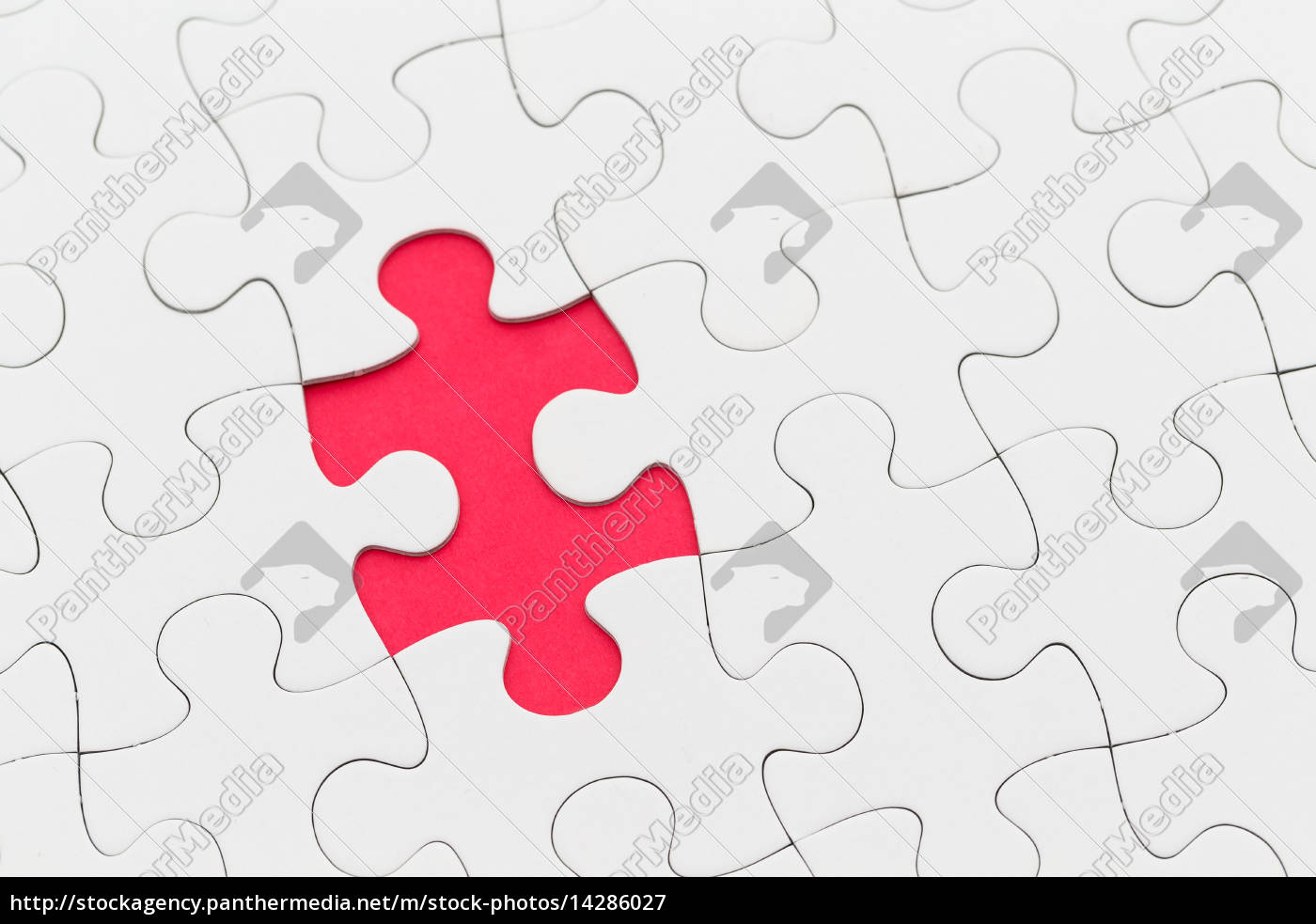 puzzle with missing red piece Royalty