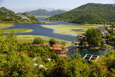 karuc village on lake skadar montenegro