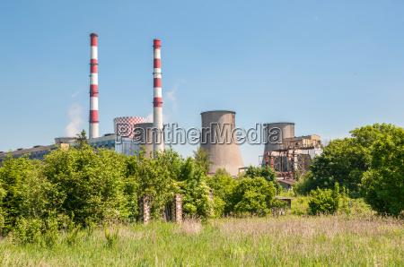 chimneys of coal power plant