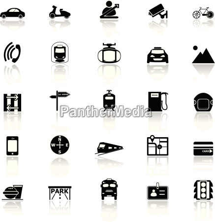 land transport related with reflect icons