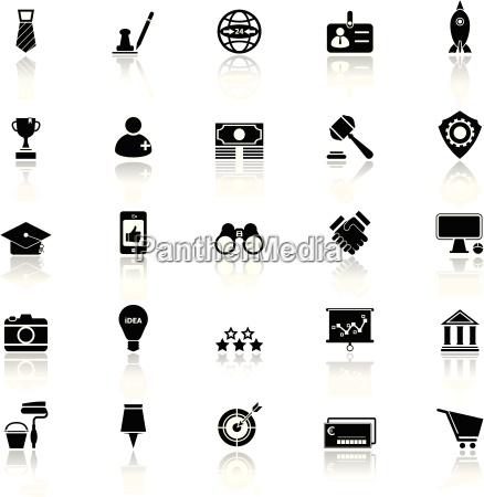 sme icons with reflect on white