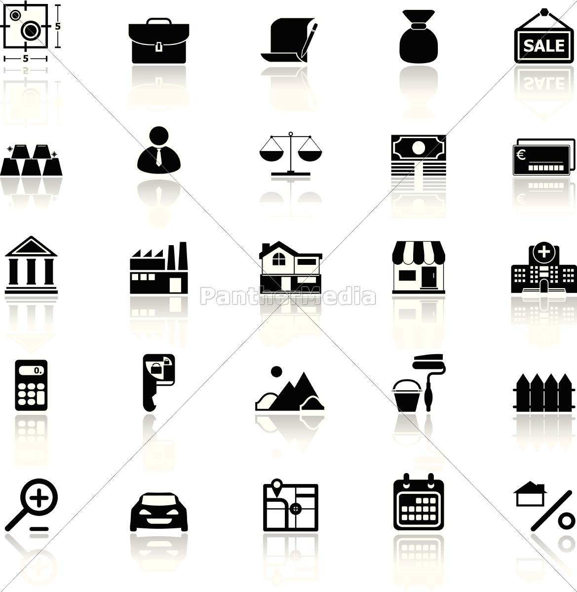 mortgage, and, home, loan, icons, with - 14294991