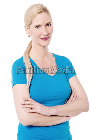 confident woman posing to camera