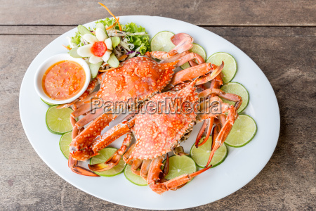 steam crab seafood