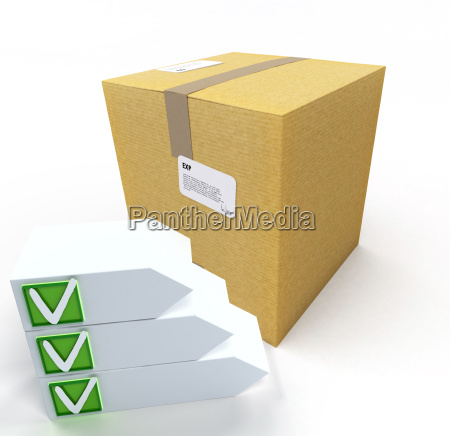 box with checklist