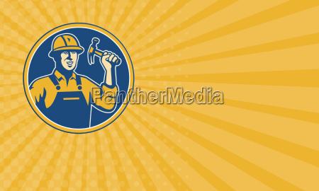 business card construction worker carpenter tradesman