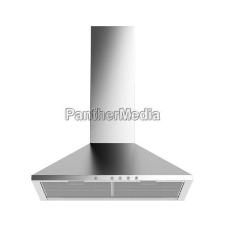 silver cooker hood