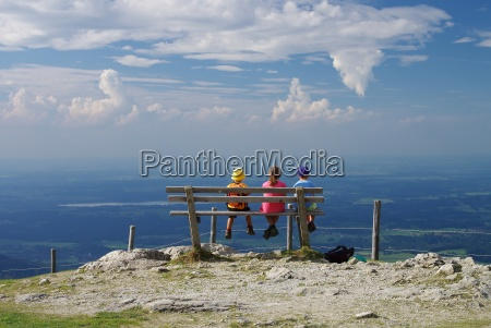 view from the mountain station of