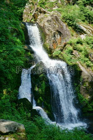 the waterfall in triberg in the