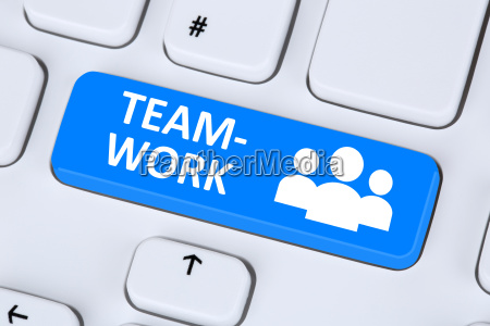 teamwork and businessteam online on the