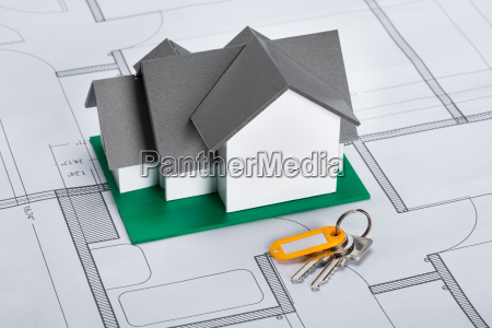 house model with keys