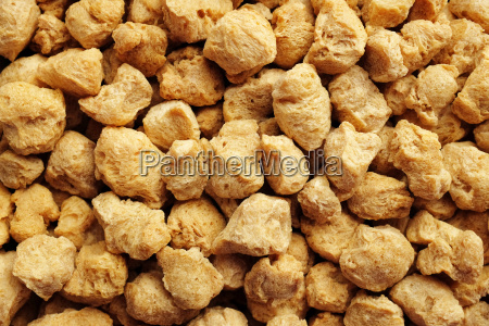 soya protein chunks background