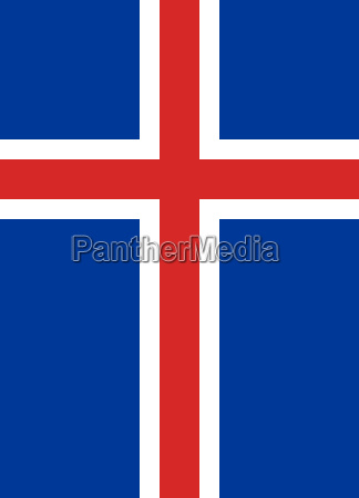flag of iceland vertical