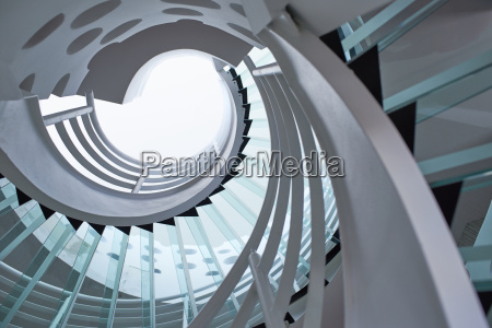 modern glass spiral staircase