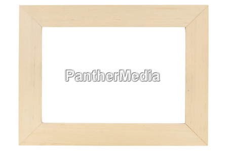 wooden picture frame on white backround
