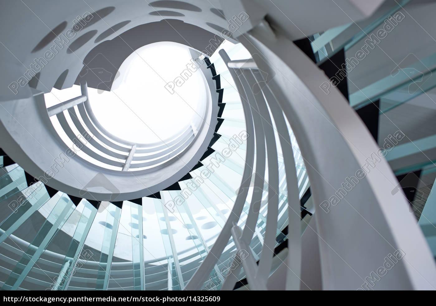 Modern glass spiral staircase 14325609
