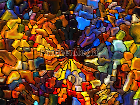 dance of stained glass