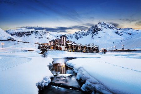 tignes alps france