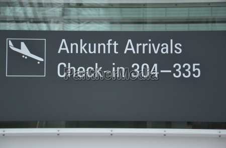 arrival at the airport