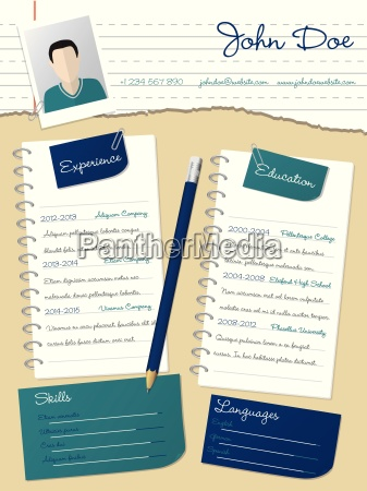 cool new curriculum vitae resume with