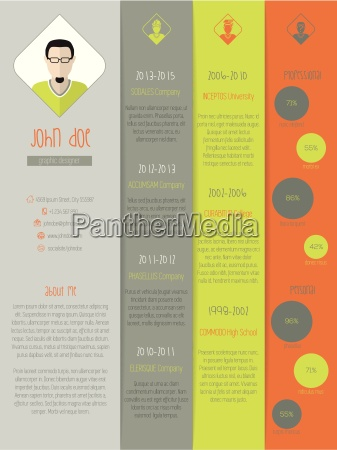 new modern resume curriculum vitae with