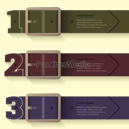 belt buckle infographic background design