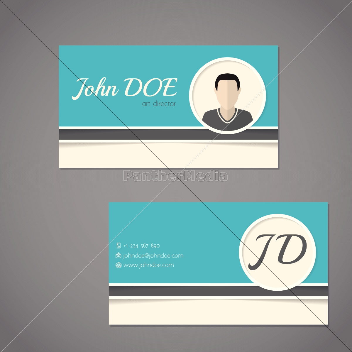 Royalty Free Vector 14326877 Business Card Design With Front And Back Side
