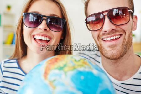 smiling dates in sunglasses