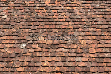 detail of a roof with very