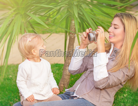 cheerful family in the park