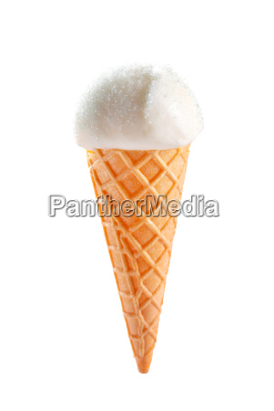 white ice cream cone