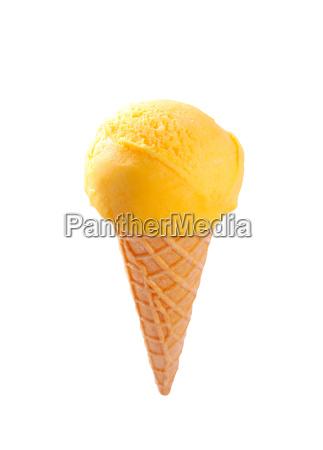 yellow ice cream cone