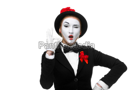 portrait of the approving mime