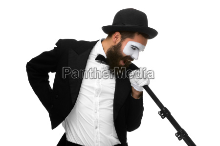 portrait of a man as mime