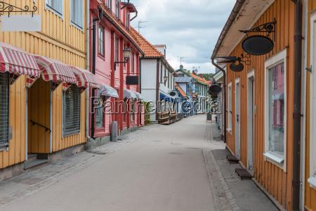 stockholm narrow streets of city