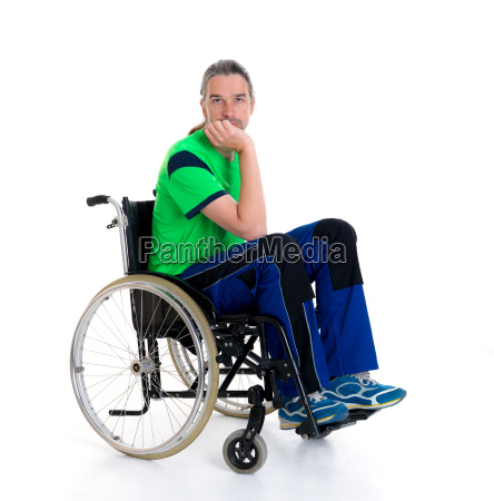 young man in a wheelchair