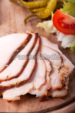 slices of cold roast on a