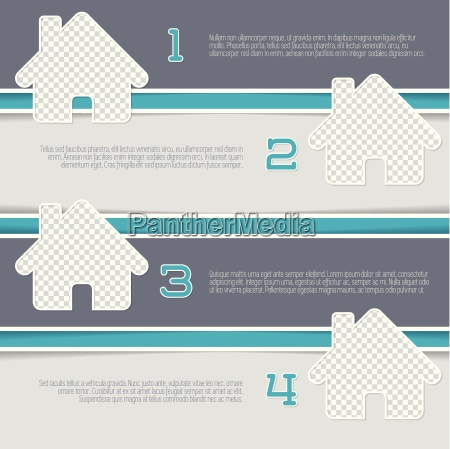 infographic design with house shaped photo