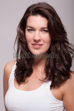 young attractive woman with dark hair