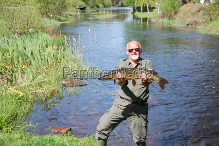 fishing in the river landscape in