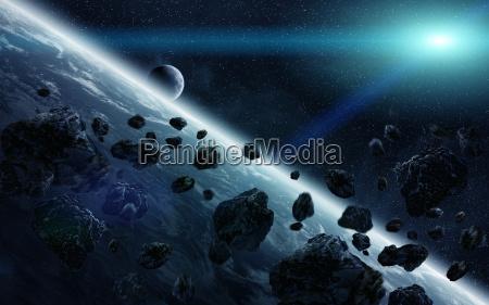 meteorite impact on planet earth in