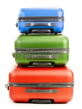 luggage consisting of three suitcases isolated