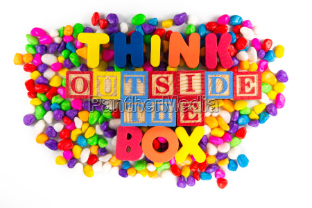 thinkd outside the box word in