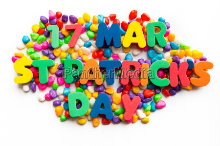 17th mar st patricks day word
